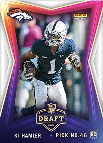 2020 KJ HAMLER PANINI INSTANT NFL DRAFT NIGHT PICK No 46 BRONCOS ROOKIE CARD #26