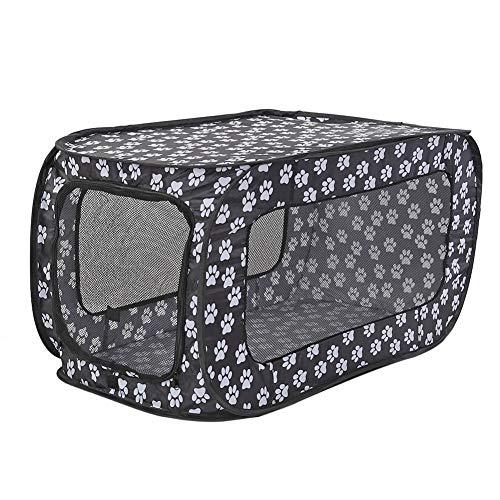 Lnvnoaua Viaje del perro del gato de la tienda portable plegable for mascotas Valla Casas plegable for mascotas Jaula Jaula rectangular parque infantil al aire libre de interior (34.25'*18.5'*18.5'/87