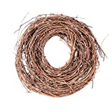 BESPORTBLE Grapevine Wreath Natural Vine Branch Twig Wreath Garland Halloween Front Door Wall Fireplace Decoration for Halloween Thanksgiving Party