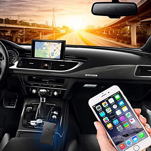 Adaptateur Émetteur Bluetooth 5.0 Bluetooth Audio Transmetteur Récepteur 3-en-1 Prise Jack 3,5 mm et USB Compatible avec PC/TV/Voiture/Tablette/MP4