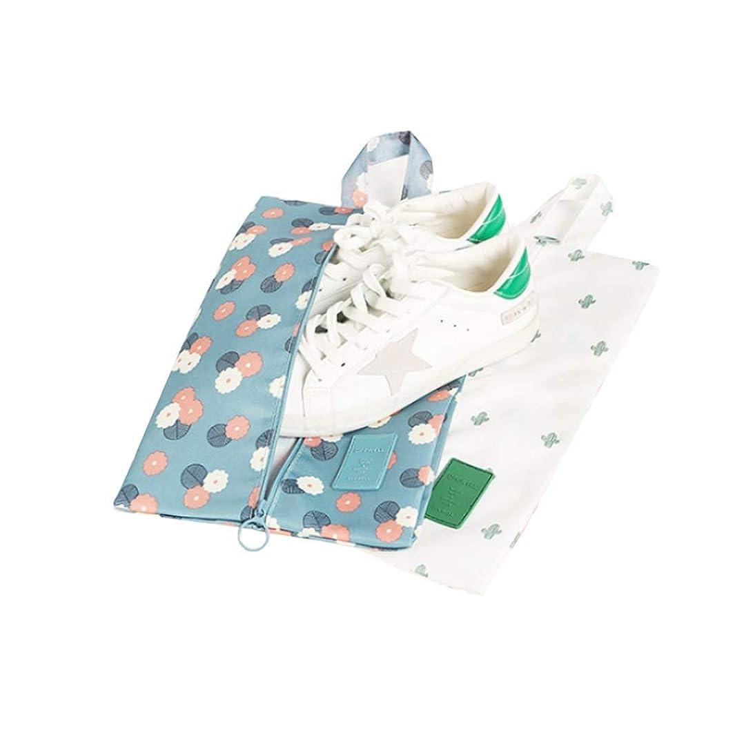 気質困った選挙旅行のためのジッパーバッグ、トラベル、旅行靴主催、服保存袋、ジム、ポータブル旅行靴バッグ、2パックの靴袋、7.9×13.4inch用パッキングバッグ (色 : Multi-colored, サイズ : 7.9×13.4inch)