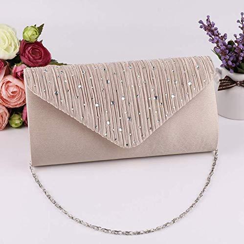 LINSUNG Satin Tasche Hochzeit Abend Handtasche Umh?ngetasche Kette Diamant Ball Handtasche