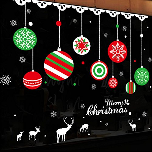 Corsion 2018 Merry Christmas Household Room Wall Sticker Mural Decor Decal Removable