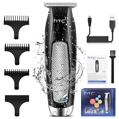 Haarschneidemaschine Barttrimmer Set, Professionell Haarschneider Langhaarschneider Bartschneider für Männer mit Akku- und Netzbetrieb, Wasserdicht Haartrimmer für Salon und Zuhause