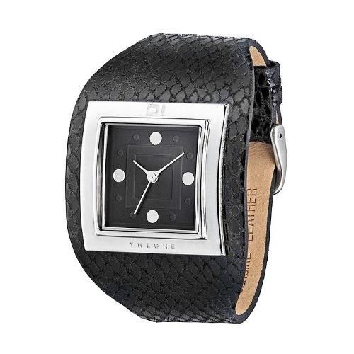 The One Reloj Binario para Unisex de Cuarzo con Correa en Piel 0803C009D815S400