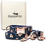 Freudentier® Hundehalsband & Hundeleine im Set - Wundervolles Design &