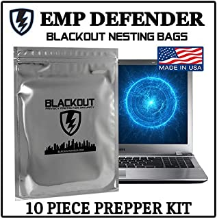 Faraday Cage EMP ESD Bags Complete 10pc Kit Survivalists Preppers
