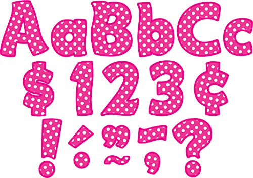 Teacher Created Resources Pink Polka Dot Funtastic 4-Inch Letters Combo Pack (5430)