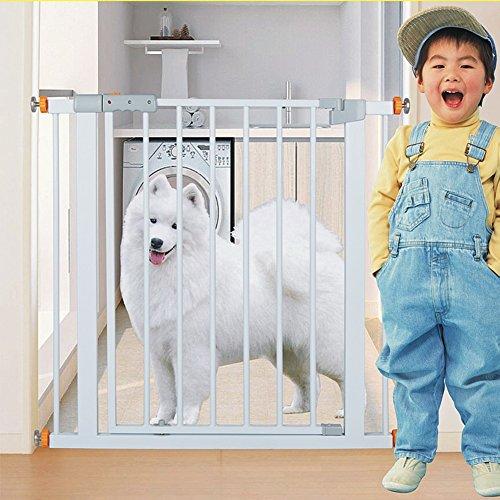 Barrière de sécurité Pet Gate pour Chiens Chats Extra Large Barrière De Porte pour Porte Escaliers Hallway 75-126 Cm Large Blanc Métal Portes De Sécurité Intérieure (Taille : 89-98CM)