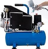 VTAMIN Compresor de Aire silencioso, Bomba de Aire Mini Air Pinte, 110 0W, 8L, ¿Contiene Aceite, Gran Flujo, carpintería? para decoración de carpintería, Pintura de automóviles, Limpieza automática