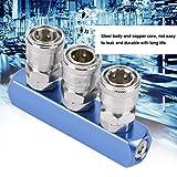 Conexión de manguera de aire, PT1 / 4, ajuste rápido, liberación rápida, conector neumático, para compresor de aire para(Straight three links)