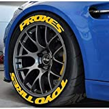 Toyo Tires Proxes - Pegatinas permanentes de goma para neumáticos de 1 pulgada para ruedas de 14 a 22 pulgadas, 8 unidades