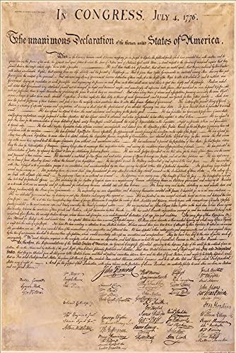 1art1 USA - La Dichiarazione di Indipendenza, 4 luglio 1776 Poster Stampa (91 x 61cm)