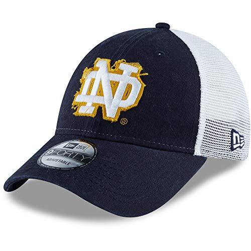 New Era NCAA University of Notre Dame Fighting Irish 9FORTY Snapback Trucker Cap, verstellbar, Marineblau Weiß