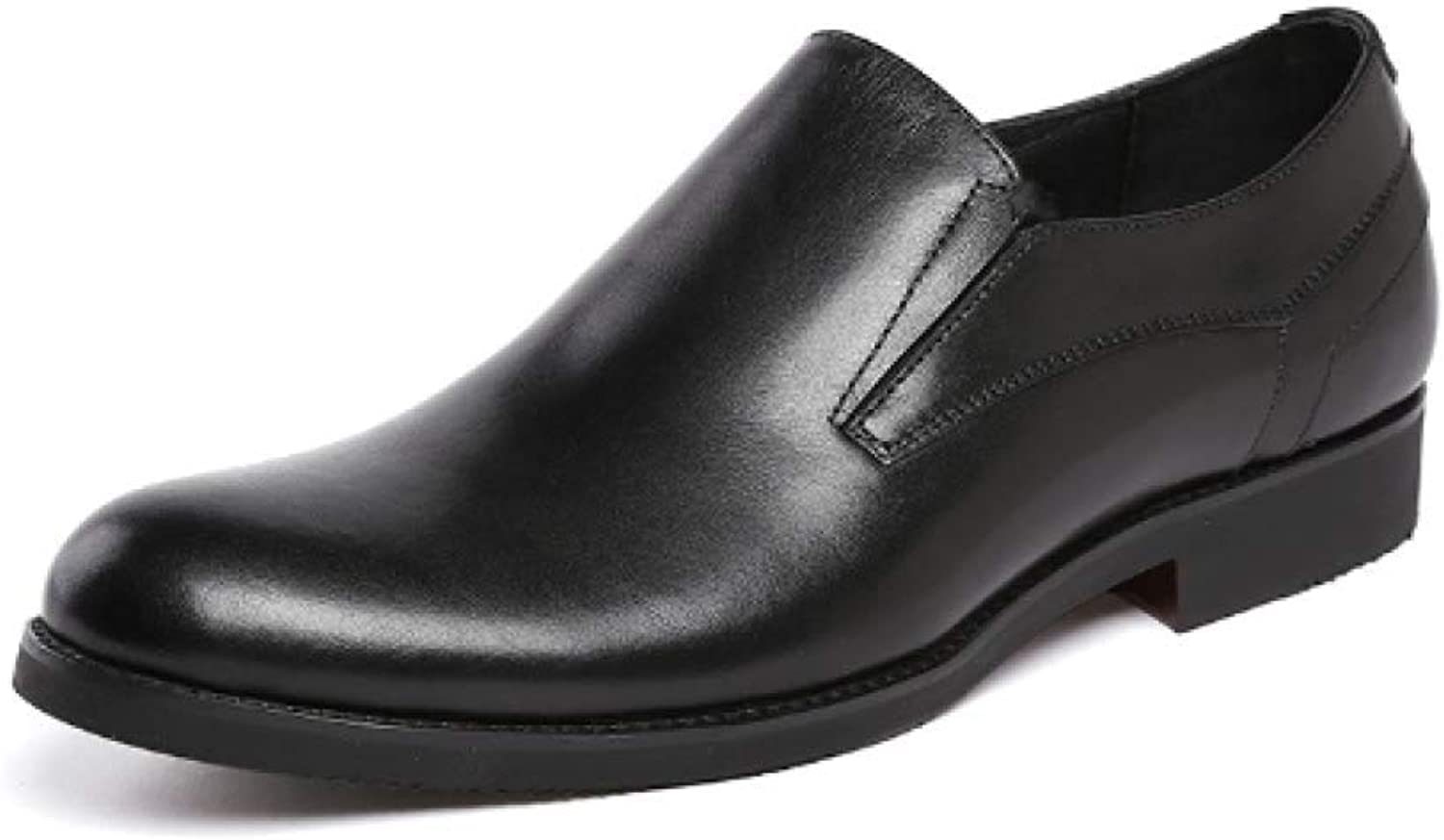 Men's Leather shoes, Set Foot shoes, Round Head, Work shoes, Business, Wearable, Low shoes, Comfortable
