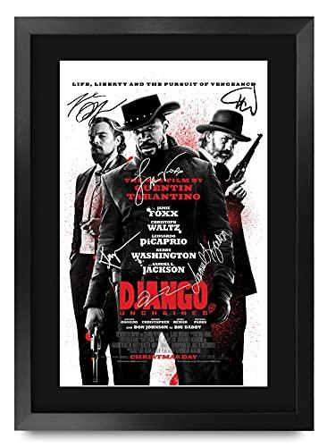 HWC Trading Django A3 Incorniciato Firmato Regalo Visualizzazione delle Foto Print Immagine Autografo Stampato per Jamie Foxx Gli Appassionati di Cinema