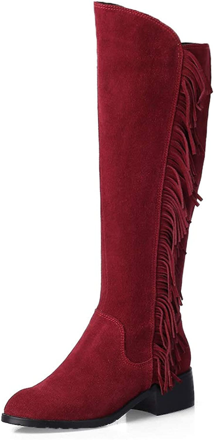 MAYPIE Womens Toyummy Suede Zipper Over-The-Knee Boots