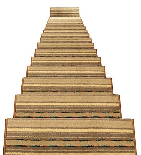 ZENGAI Velcro Fondo Tappeto Scale Tappetino Pad 5 Pezzi Treads Runner Protezione del Bordo Addensare Scale in Ferro/Cemento Famiglia Resistente all'Usura (Color : 1#-5 Pieces, Size : 80x(24+3) cm)