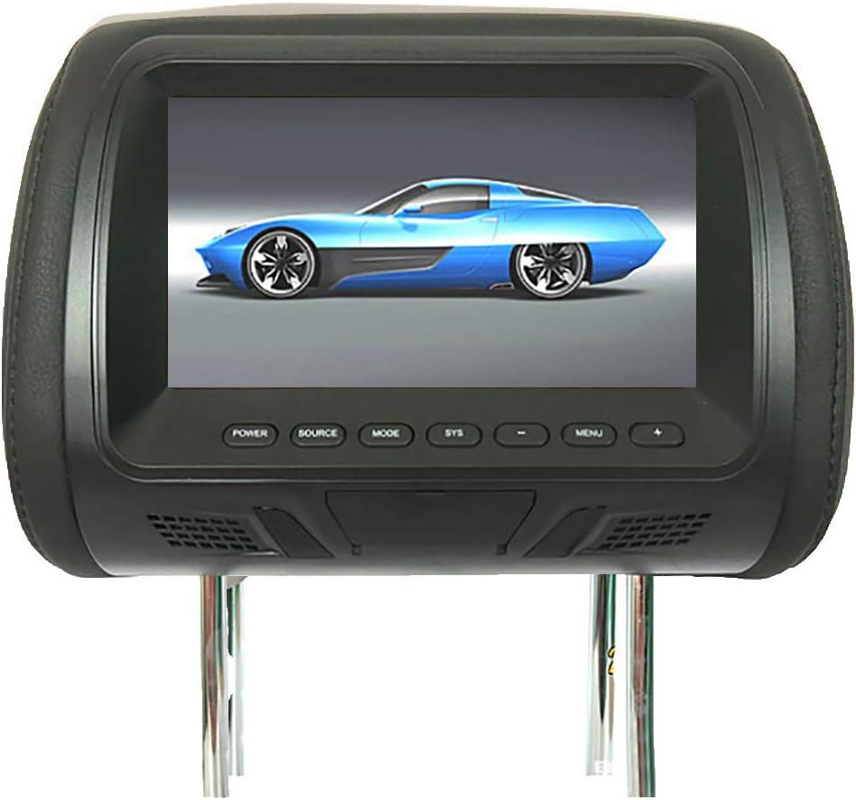 Glamsville Universal 7 Inch Car Headrest Display Monitor Rear Seat Entertainment Multimedia Player Black