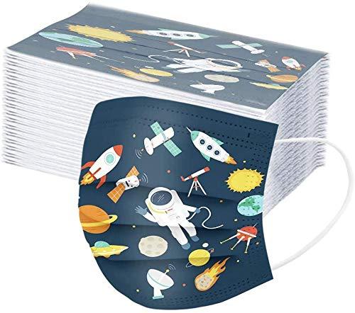 Baorio 50 Stk Einweg Kinder Abdeckung mit Cartoon Muster für Schule Einwegschutz für Kinder 3 Schichten Atmungsaktiv mit Gummiband für Ohrvlies-Säuglinge (stil-5)