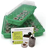 Window Garden Seed Starting Kit – Complete Supplies – 3 Mini Greenhouse Trays with Dome fits on...