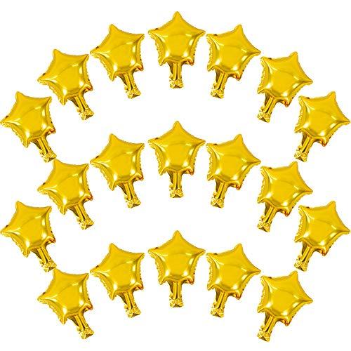 100PC5GOLD STAR 모양 풍선일 풍선 MYLAR 풍선은 아기를 위해 샤워실 성별 공개 결혼식 생일이나 약혼식 장식(금)
