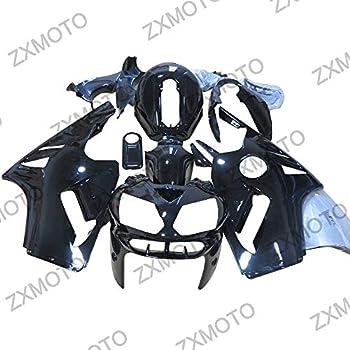 ZXMOTO Glossy Black Motorcycle Bodywork Fairings Kit for 2002 2003 2004 2005 Kawasaki Ninja ZX12R ZX1200B