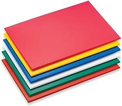 Grunwerg–Tabla de Cortar de plástico de Alta Densidad, plástico, Rojo, 45 x 30 x 1 cm