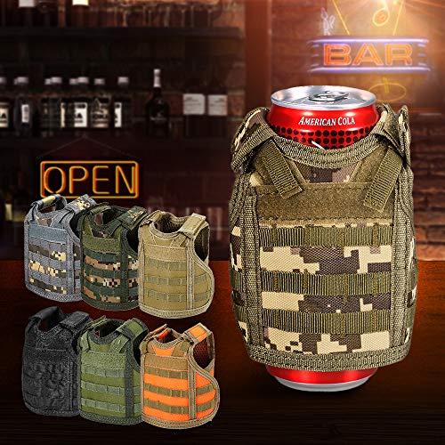 Fesjoy Taktische Bier Weste Militär Molle Mini Miniatur Getränkeflasche Kann Kühler Halter Hülse