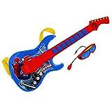 Spiderman-Guitarra electrónica con Gafas y micrófono Incorporado (Claudio Reig 557) Juguete Musical REIG557