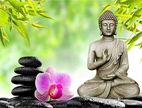 Safiman Puzzle 1000 Piezas Buda Y Piedra Decoración para El Juego De Juguetes para El Hogar Ran Regalo Educativo para Niños 75X50Cm