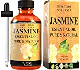 Jasmine Essential Oil (1 oz), Premium Therapeutic Grade, 100% Pure and Natural, Perfect for Aromatherapy, Relaxation, Improving Mood and Much More by Mary Tylor Naturals