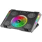 ICE COOREL Base di Raffreddamento per Laptop Raffreddatore, Dispositivo di Raffreddamento per PC con Illuminazione RGB per Laptop 11-15.7', 5 Ventole a Forte Flusso d'Aria, 5 Regolabile in Altezza