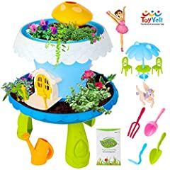 WATCH YOUR MAGICAL GARDEN GROW with this starter fairy garden kit for kids, which will allow your child to plant his own seeds in the fairy garden house and proudly watch them to thrive and flourish in due time. GET A COMPLETE GARDENING KIT FOR KIDS:...