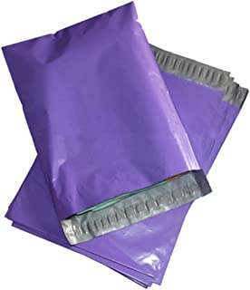 "100 Count #4 10 x 13 Inch Oknuu Packaging Supplies Purple Poly Mailers Self-Sealing Shipping Envelopes Plastic Mailing Bags 2.5 Mil Thickness 10""x13"" (100 Pack)"