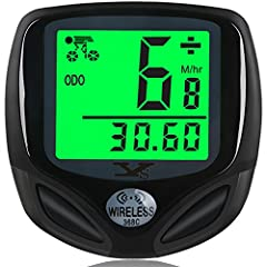 【LCD Digital Display】The large LCD display guarantees you can read your statistics from the bicycle speedometer easily. 【Auto Wake-up Function】Built-in Ball Switch, automatically turn on from sleeping mode when sensing the vibration after shocking bi...
