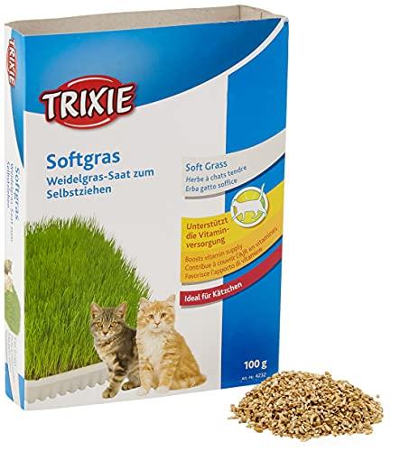 Trixie Bandeja Bio Hierba para Gatos, Aprox.100 g
