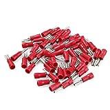 NO LOGO FMN-Connector, 50pcs 2.8mm 4.8mm Terminales 6.3mmFemale prensan Sello Aislante Spade Empalme eléctrico crimpado Set (Color : Brown, tamaño : 2.8mm Red)