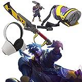 Enemy 3 PCS/Set Cosplay, Adultos Juego competitivo LOL Hero Ike Cos Arma Bronce Swears Decoración de Auriculares Auriculares Accesorios de Vestuario Regalos de cumpleaños para niños