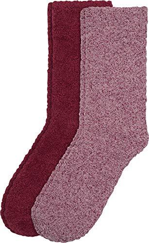 Camano Damen 3482 Socken, Rot (Bordeaux 3801), (Herstellergröße: 39/42) (2er Pack)