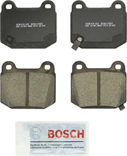 Bosch BC961 QuietCast Premium Ceramic Disc Brake Pad Set For Infiniti: 2003-2005 G35; Mitsubishi: 2003-2006 Lancer; Nissan: 2003-2008 350Z; Subaru: 2017 BRZ, 2004-2014 Impreza, 2015-2017 WRX STI; Rear