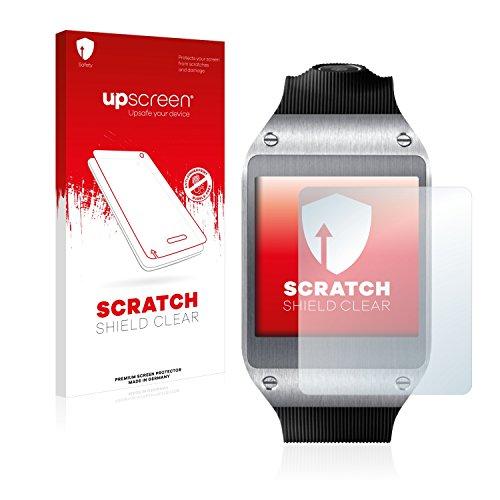 upscreen Schutzfolie kompatibel mit Samsung Galaxy Gear V700 – Kristallklar, Kratzschutz, Anti-Fingerprint
