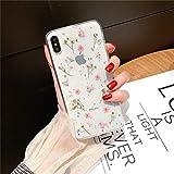 Hishiny Coque iPhone 7 Plus, Coque iPhone 8 Plus Transparente Silicone Créatif Vraie fleur Housse de Protection [Anti-Rayures] TPU Bumper Cover Étui pour Apple iPhone 7 8 (iPhone 7/8, 1)
