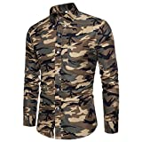 sunnymi   Herren Tops Lässige Tarnung Pullover Langarm T-Shirt Bluse