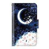 +S iPod touch 第5・第6・第7世代 手帳型ケース 桜 花 和柄 桜三日月 PUレザー csd0010-02