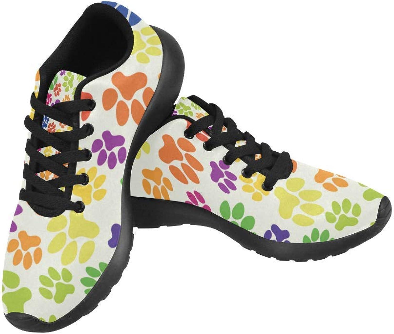 Intresserade Intresserade Intresserade färgstarka hundar lägger ut utskrift på Kvinnliga springaning skor Casual ljusljus Athletic skor US Storlek 6 -15 Svart  varm