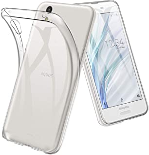 AQUOS sense2 SHV43 ケース TopACE クリア スリム TPU カバー 落下 衝撃 吸収 擦り傷防止 AQUOS sense2 DOCOMO SH-01L SH-M08 Android One S5 用 カバー (AQUOS sense 2,クリア)