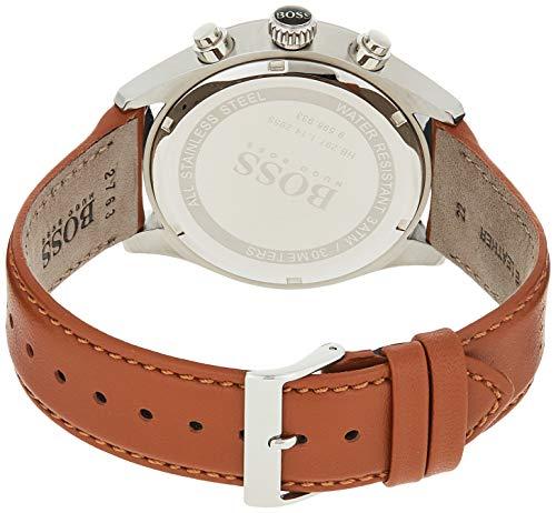 Hugo Boss Homme Chronographe Quartz Montre avec Bracelet en Cuir 1513475