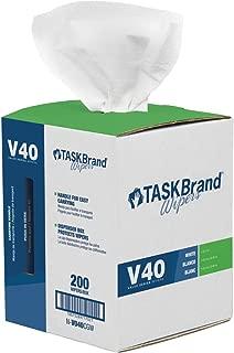 TaskBrand N-V040CGW Center Pull Wipers, White, 10