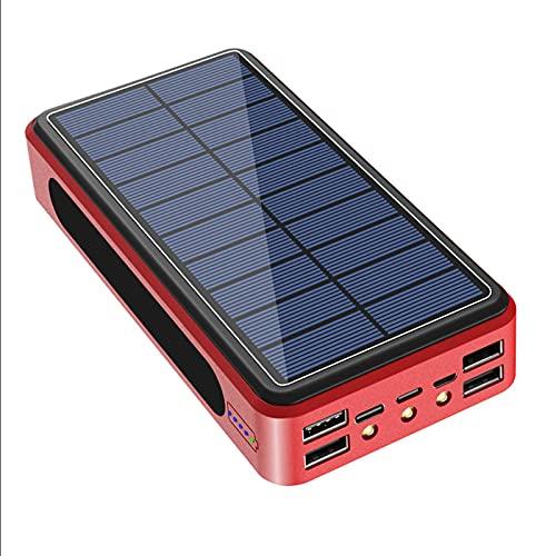 PWQ-01 Cargador Solar 50000mAh Batería Externa, Banco Energía Solar Power Bank con Nuevo IC de Control Inteligente, 4 USB Cargador Portátil Móvil para Smartphones, Tabletas y Dispositivos USB